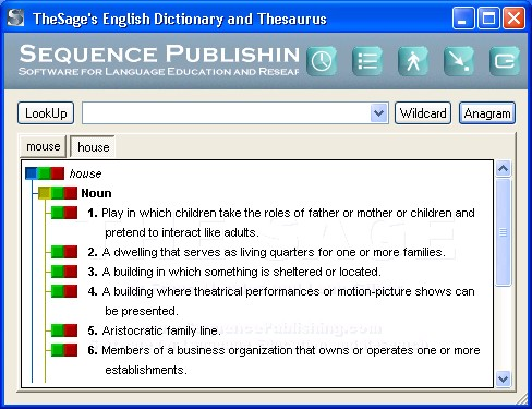 Screenshot TheSage's English Dictionary and Thesaurus