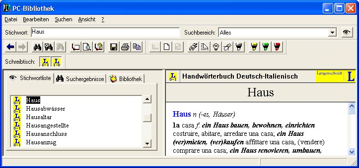 Screenshot PC-Bibliothek 2.0